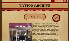 Page d'accueil du site de Tattoo Archive